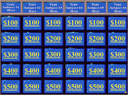 Free Jeopardy Powerpoint Template Magdalene Project Org