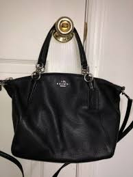 coach small kelsey satchel in pebble leather cross bag f36675