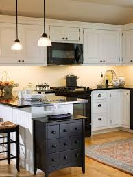 Exellent Off White Kitchen Black Appliances Cabinets And Backsplash Counters Plus Accents Creativity Design