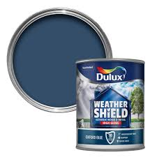 Dulux Weathershield Exterior Oxford Blue Gloss Wood & Metal Paint 750ml |  Departments | DIY at B&Q