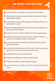Outline Of Compare And Contrast Essay Compare And Contrast Essay Outline For Perfect Writing