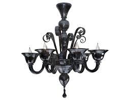 chandeliers black murano 6
