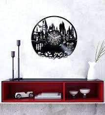 wall art clock harry potter wall art clock limited edition modern art decor wall clock sticker
