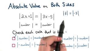 absolute value on both sides visualizing algebra