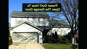 open garage door without power how to open garage door manually can you open a garage door without power from the outside