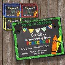 Preschool Graduation Announcements Preschool Graduation Invitation Editable Chalkboard