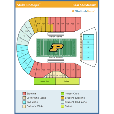 Ross Ade Stadium Seating Chart Rows Ross Ade Stadium West Lafayette Event Venue Information