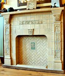 tile restoration center fireplace in the batchelder tradition