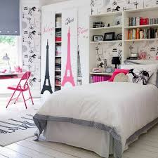 Paris Themed Girls Bedroom Interior Design Gorgeous Teen Girl Bedroom Improvement By Wall