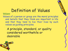 moral values 3 definition of values
