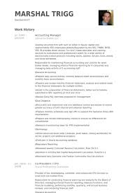 Accounting Manager Resume Examples Fascinating Accounting Manager Resume Samples VisualCV Resume Samples Database