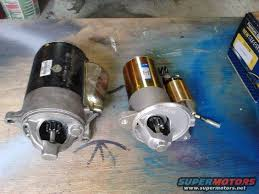 351 cleveland starter suggestions the ford torino page forum definitely go a pmgr permanent magnet gear reduction starter just for reference this is the difference between a regular and pmgr ford 460 starter