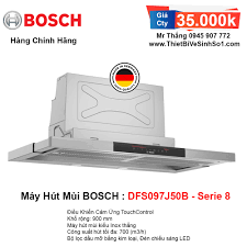 Máy Hút Mùi BOSCH DFS097J50B Serie 8   Tổng Kho Bếp Chính Hãng Hà Nội
