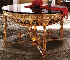 handmade italian luxury furniture empire style round foyer table