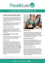 Powells-Law-Factsheet-Template-Leisure-Industry-1 - Powells Law