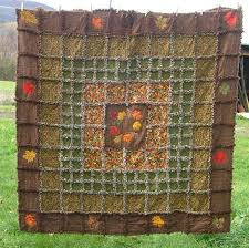 Autumn Leaves Frayed-Edge Quilt - Advanced Embroidery Designs & Autumn Leaves Frayed-Edge Quilt Adamdwight.com