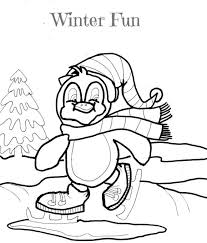Small Picture Rabbits Winter Coloring Pages Winter Coloring pages of