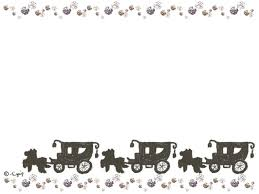 大人可愛い手描きの馬車とキラキラのラインのフレーム640480pix Web