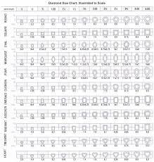 29 Printable Diamond Size Charts Diamond Color Charts