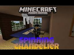 minecraft pe how to make spinning chandelier