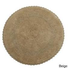 round bathroom rugs. saffron fabs reversible cotton round 36-inch bath rug with hand-knitted crochet lace bathroom rugs n