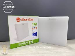 Combo 3 Đèn LED ốp trần Vuông 18w Rạng Đông D LN12L 22x22/18W