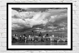 london framed prints city skyline
