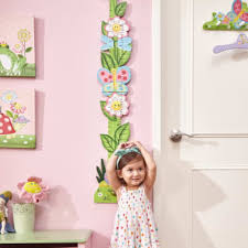 Fantasy Fields Kids Pink Wooden Growth Height Chart Girls Wall Hanging