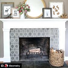 tile fireplace surround ideas ceramic design pictures floor slate firepl
