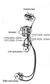rgv power valve cable front rh the tuning works genuine suzuki part vj22 power valve cable front right hand