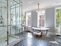 Modern interior design bathroom Comfort Room In Tune With The Midcentury Modern Interior Representative Of Hollywoods Golden Era Bathrooms Feature Marble Countertops And Walnut Cabinetry Interior Design Breathtaking Bathrooms