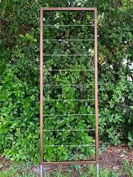 clean and modern trellis metal frame