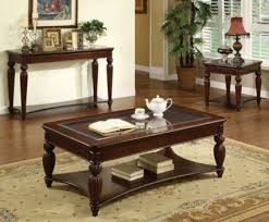 Furniture of America Living Room Franklin Burgundy Collection
