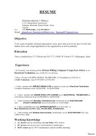 Electrician Resume Format Download Resume Online Builder