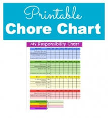 my responsibility chart responsibility and chore chart for kids with printable chore