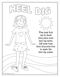 Insider Dance Coloring Pages Free Tap Dancing Printable From