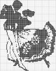 Черно-белая вышивка пара схемы