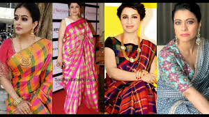 Makeover Saree Designs Latest Checked Sarees And Blouse Designs Ideas 2019 Youtube