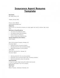 Insurance Sample Resume Resume For Insurance Job Study Entry Level Agent Sample Template Sevte 1