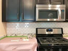 Kitchen Backsplash Installation Cost Stunning How To Install A Subway Tile Kitchen Backsplash Young House Love