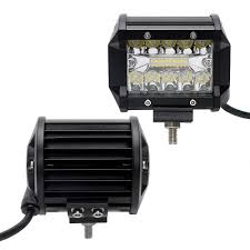 4 Led Light Bar Light Bar Work Light Leepee 2pcs Set Super Bright Dc12v 24v