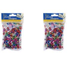 Darice Jewelry Designer Beads Darice Pony Beads Metallic 760 Beads