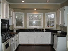 ... Astonishing Kitchen Decorating Design Ideas : Artistic U Shape Kitchen  Design Ideas With Black Granite Counter ...