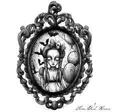 oval filigree frame tattoo. Goth Girl Filigree Frame By Tim Van Horn Oval Tattoo