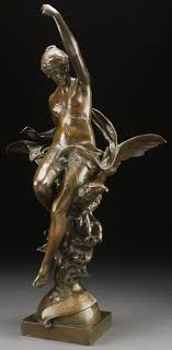EMILE LOUIS PICAULT (French 1833-1915) L' insperation Bronze with brown  patina | Sculpture art, Bronze sculpture, Statue