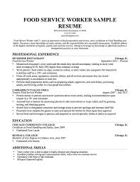 food service resume professional how should my resume be formatted