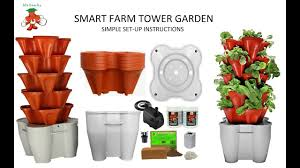 how to set up smart farm hydroponic tower garden
