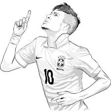 Neymar Psg Coloring Pages Only Coloring Pages Neymar In 2019