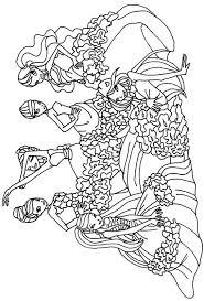 Colorare Winx Disegno Il Gruppo Winx Da Colorare