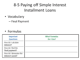 loan formulas 8 1 single payment loan single payment loan promissory note ppt